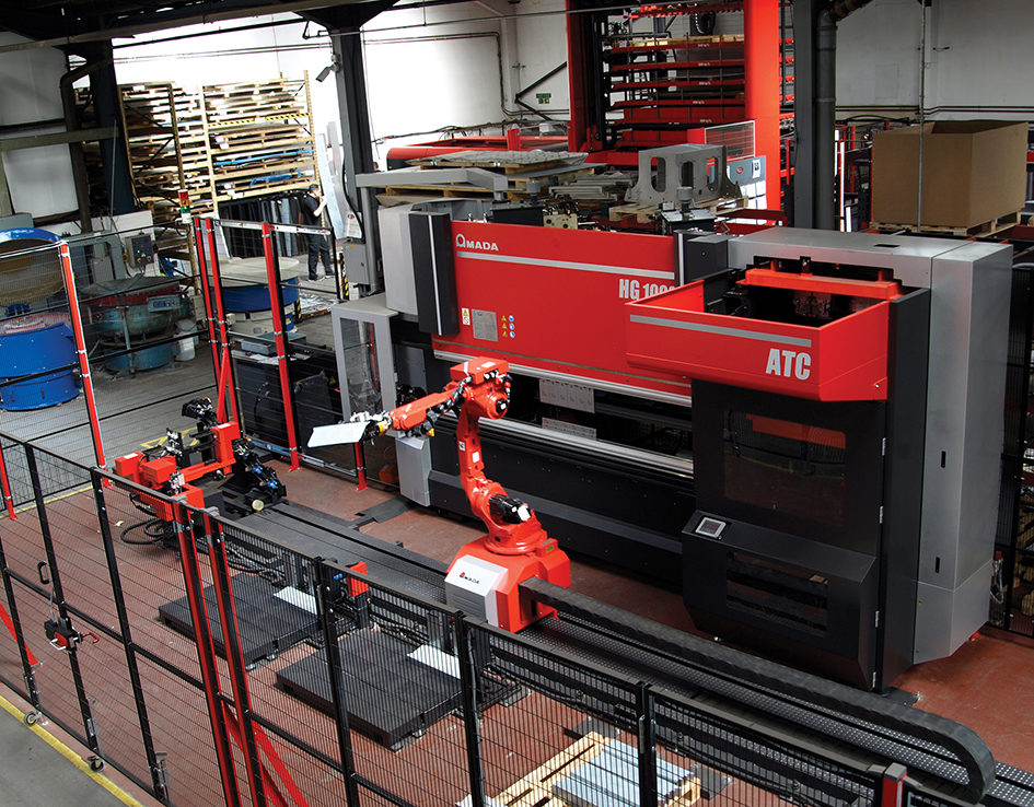 Automated Amada press brake reduces labour costs and slashes set-up